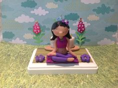 Polymer clay yoga business card holder yoga by NaomisSweetStuff, $35.00