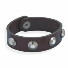 Sterling Silver 8 Inch Leather Bracelet with Tungsten Carbide Studs Sterling Silver Collection. $89.24. Save 25% Off!