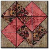 """Preparing the Pieces and Sewing the Block Tutorial ~ this block is a Jeff Gutcheon Design.  It makes a 12"""" block...love how the colors interact."""