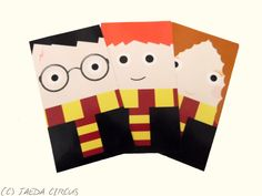Harry Potter Sticker Pack (Harry, Hermione, Ron) by JaedaCircus on Etsy https://www.etsy.com/listing/214149644/harry-potter-sticker-pack-harry-hermione