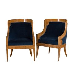 A Pair of Karelian Birch Russian Armchairs circa 1820 | From a unique collection of antique and modern chairs at http://www.1stdibs.com/furniture/seating/chairs/