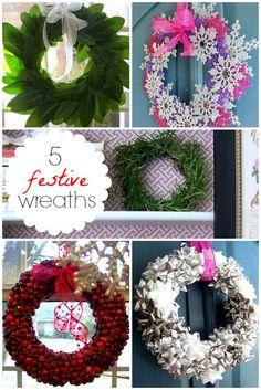 Hi Sugarplum | 5 Easy Holiday Wreaths anyone can DIY