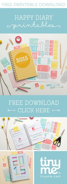 Happy Diary Free Printables | Tinyme Blog