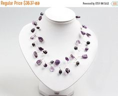 Extended Holiday Sale Amethyst Necklace by EchosHealingStones