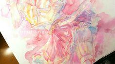#illustration #watercolor #art #original #pink #sailer #girl