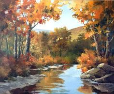 Artists Of Texas Contemporary Paintings and Art: TINA BOHLMAN - AUTUMN'S OVERTURE - 24X30 OIL