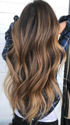 Long Wavy Ash-Brown Balayage - 20 Light Brown Hair Color Ideas for Your New Look - The Trending Hairstyle Balayage Long Hair, Hair Color Balayage, Golden Brown Hair, Long Brown Hair, Golden Hair Color, Brown Hair With Blonde Highlights, Hair Highlights, Dark Hair Light Highlights, Brown Highlighted Hair