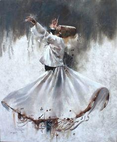Artist of the Day Hossein Irandoust Moghadam Untitled, 2018 Acrylic on Canvas 66 × 55 in Arabic Calligraphy Art, Arabic Art, Calligraphy Alphabet, Dance Paintings, Islamic Paintings, Iranian Art, Turkish Art, Visionary Art, Islamic Wall Art