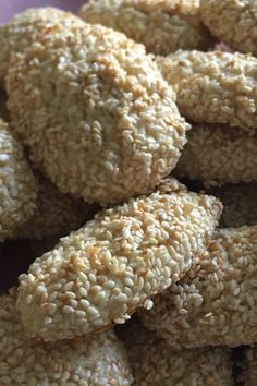 Aunt Anne's Sesame Cookies Recipe – Famous Last Words Italian Christmas Cookie Recipes, Italian Cookie Recipes, Italian Desserts, Holiday Desserts, Baking Recipes, Italian Sesame Cookie Recipe, Sicilian Recipes, Italian Foods, Gourmet Desserts
