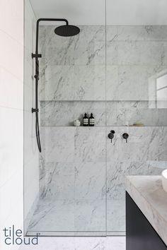 Bathroom Renos, Bathroom Renovations, Small Bathroom, Master Bathroom, Bathroom Ideas, Bathroom Inspo, Carrara Marble Bathroom, Bathroom Design Luxury, Bathroom Inspiration