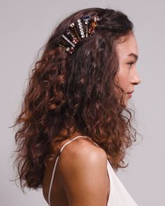 Office Hairstyles, Easy Hairstyles For Long Hair, Long Curly Hair, Wavy Hair, Stylish Hairstyles, Hairstyle Short, School Hairstyles, Hair Updo, Curly Hair Headband