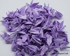 1000 Origami paper crane Light Purple Origami Crane Made of 100 500 Small inch for Wedding Gift, decorate , backdrop wedding Origami Paper Crane, Diy Origami, Origami Cranes, Paper Cranes, Wedding Messages, Origami Instructions, Light Purple, Paper Design, Pattern Paper