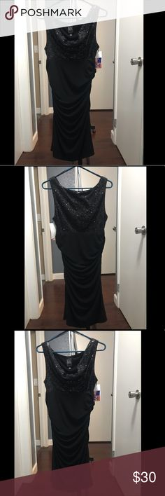 Black Sparkly Dress Black sparkly dress.  Never been worn with tags. Night Way Collections Dresses