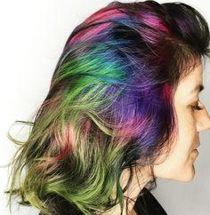 Firework-inspired hair colours - I love these hair looks!