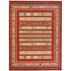 Found it at Wayfair - Nomad Rust Red Area Rug