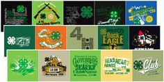 4-H Club stock design ideas t-shirts
