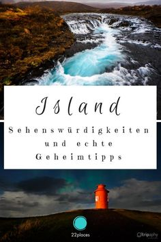 Island Sehenswürdigkeiten: Geheimtipps und Highlights Iceland is an absolute dream travel destination. In this extensive guide you will find information on the most beautiful sights in Iceland and many real insider tips. Places To Travel, Places To See, Travel Destinations, Travel Route, Travel Goals, Travel Tips, Travel Around The World, Around The Worlds, Beau Site