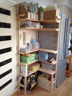 f:id:ll1a9o3ll:20140901174350j:plain Garage Apartments, Wood Projects, Home Office, Diy And Crafts, Bookcase, Shed, Shelves, House, Home Decor