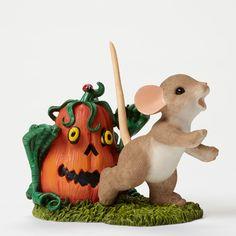 Enesco Halloween Charming Tails Pumpkin Zombie Figurine 2.75-Inch