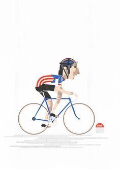 Roger de Vlaeminck, King of the Pave. Illustration by kaputniq (Andy Arthur). One of his Legends of Cycling set on http://www.flickr.com/photos/kaputniq/sets/72157632086638737/with/8180306013/