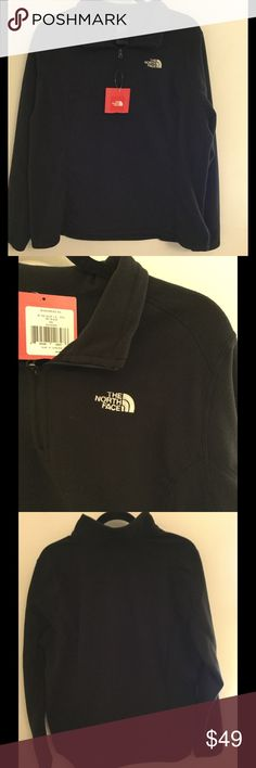 NWT The North Face Women's 1/4 Zip Pullover Brand new with tag, The North Face Women's 100 Glacier 1/4 Zip Pullover in black, size XXL.   Price is firm. No trades North Face Sweaters