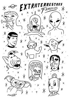 Camiseta Extraterrestres Famosos Kids Arte Y Eso Tattoo - A Selection Of Tattoo Sketches I Am A Junior Artist At Atelier Four Tattoo Studio Based In Cornwall It Is My Dream To Be Able To Give Someone A Permanent Piece Of My Artwork And I Am Incredibly Luc Kritzelei Tattoo, Doodle Tattoo, Poke Tattoo, Doodle Art, Flash Art Tattoos, Body Art Tattoos, Tatoos, Tattoo Sketches, Tattoo Drawings