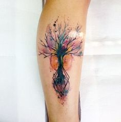 Watercolor tree shetch from Paulo Victor Skaz