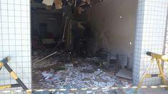Assaltante explodira caixa eletrônico do Banco Bradesco em Nova Olinda - Ítalo Renan/ S1 Notícias