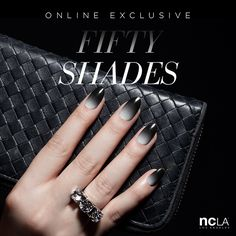 NCLA white, grey to black nail wraps in FIFTY SHADES