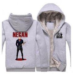 The walking dead thick fleece hoodie for winter, size from m to plus size clothing, Negan printed zip up hoodies have black and gray, made of cotton, super cool negan design the walking dead hooded sweatshirts for fat men. Grey Sweatshirt, Fleece Hoodie, Long Hoodie, Zip Up Hoodies, Hooded Sweatshirts, Walking Dead Hoodie, Fat Man, Daryl Dixon, Winter Coat