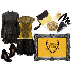 """""""Ours Is The Fury"""" - House Baratheon, fashion inspired from Game of Thrones"""