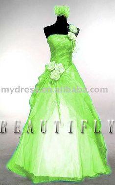 lime green wedding dress. I would like mine to be pink