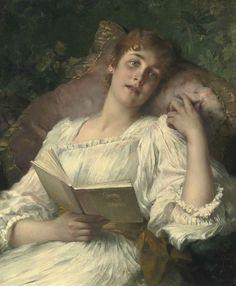 pintura de Conrad Kiesel (1846-1921)