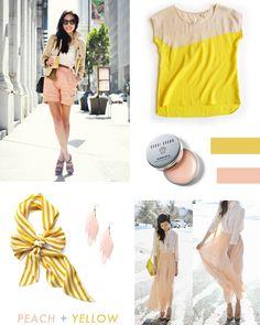 peach + yellow