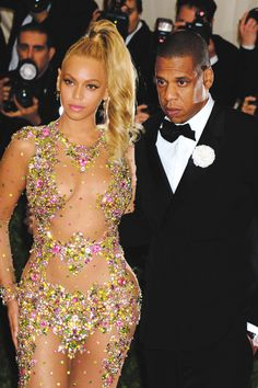 The Carters attend the 'China: Through The Looking Glass' Costume Institute Benefit Gala at the Metropolitan Museum of Art on May 4, 2015 in New York City.