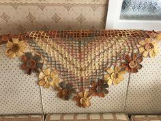 Crochet Floral Scarf, Neck Collar Making - Vanessa Viking Tattoo Design, Viking Tattoos, Crochet Shawl, Hand Crochet, Crochet Patterns For Beginners, Knitting Patterns, Sunflower Tattoo Design, Crochet Bracelet, Crochet Purses