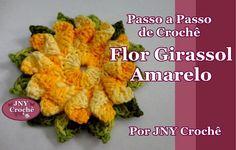 Passo a Passo de Crochê Flor Girassol Amarelo por JNY Crochê