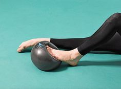 The inflatable FLX Ball is a perfect portable tool to add to your strength routine. This 9 inch portable ball adds a level of instability that challenges your muscles in a new way. The FLX Ball helps to: Foot Stretches, Foot Exercises, Stretching Exercises, How To Dance Better, Learn To Dance, Ballet Class, Ballet Studio, Dance Class, Ballet Feet