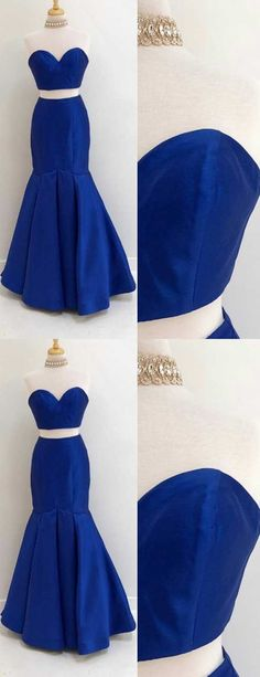 sweetheart evening dresses,two pieces evening dresses,strapless prom dresses,royal blue prom dresses,simple prom dresses 2018,formal formal dresses