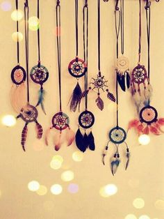 Dream catcher necklaces. always wanted one of these