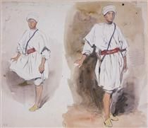 Two Views of a Young Arab - Eugene Delacroix