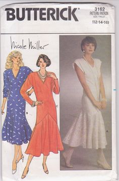 Vintage 1980s pattern for Nicole Miller by beththebooklady on Etsy, $11.99