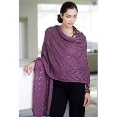 Padma Pashmina Wrap designed by John Brinegar | Vogue Knitting