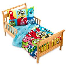 yo gabba gabba toddler bedding 4 piece set party in my tummy yo