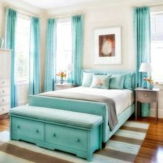 Stunning Turquoise Room Ideas to Freshen Up Your Home turquoise bedroom dec. - Stunning Turquoise Room Ideas to Freshen Up Your Home turquoise bedroom decor This image ha - Teal Bedroom, Bedroom Furniture Layout, Grey Bedroom Furniture, White And Silver Bedroom, Bedroom Design, Furniture Color Schemes, Silver Bedroom, Blue Bedroom, Bedroom Colors
