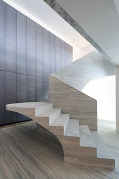 jamie fobert architects with atelier romeo / cantilevered staircase in private home, westminster