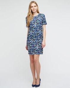Ink Print T-Shirt Dress