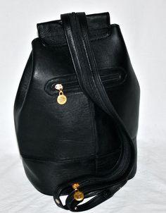 372d374cbcfc Vintage GIANNI VERSACE Leather Medusa Convertible Sling Bag Backpack