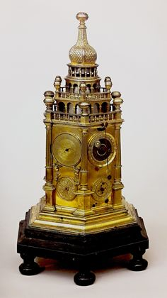 Clock in tower form showing hours, seasons, months and weeks offered by John III Sobieski to Jasna Góra Monastery by Anonymous, mid-17th century, Skarbiec Paulinów na Jasnej Górze