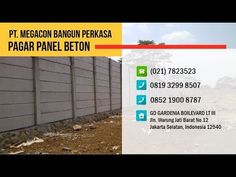 Jual Pagar Panel Beton Precast / Pracetak Harga Murah Langsung Pabrik Cirebon, Batam, Palembang, Bogor, Medan, Website